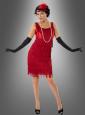 Charleston Kleid rot 20er Jahre Kostüm