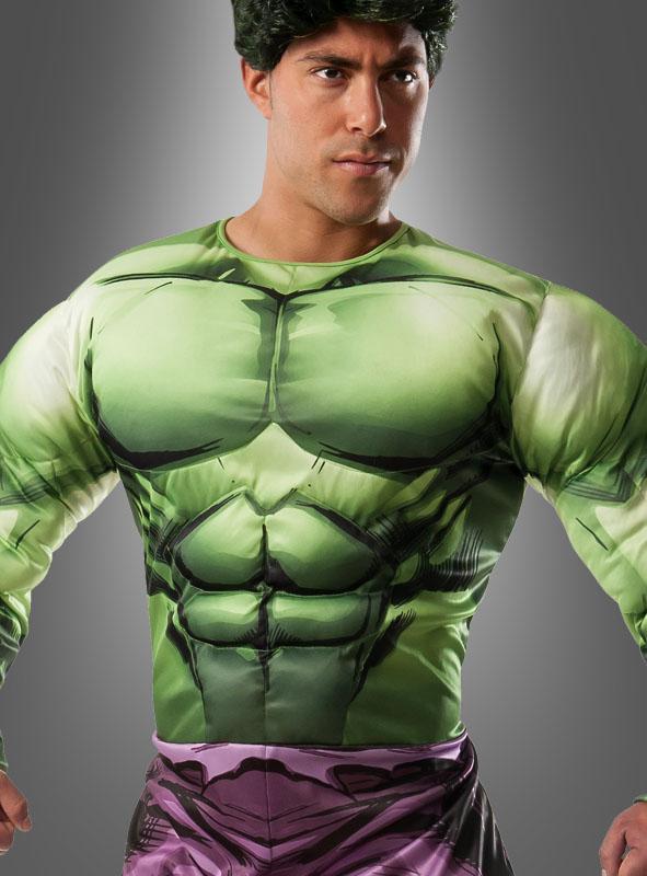 Hulk Kostüm Erwachsene mit Perücke