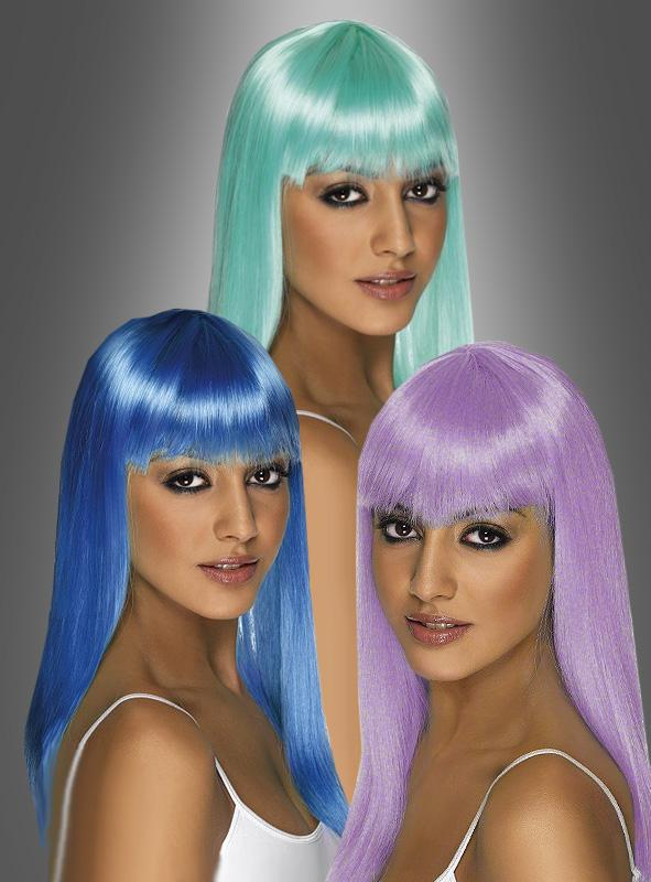 Glamour Perücke Neonfarben