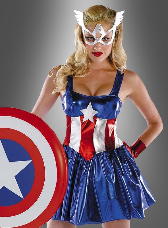 Miss Captain America Women Costume