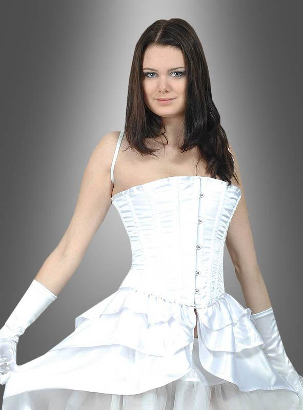 White Corsage with Skirt