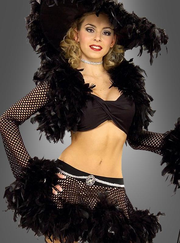Kostüm Schwarze Hexe mit echten Federn