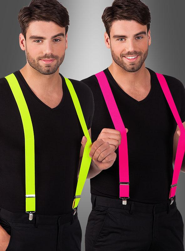 Stylish Suspenders Neon
