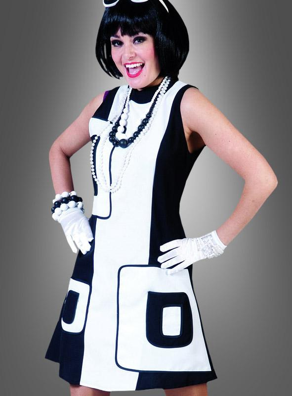 60s Mod Blacky´n White Dress