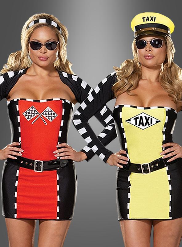 2 in 1 Taxigirl und Rennfahrerin