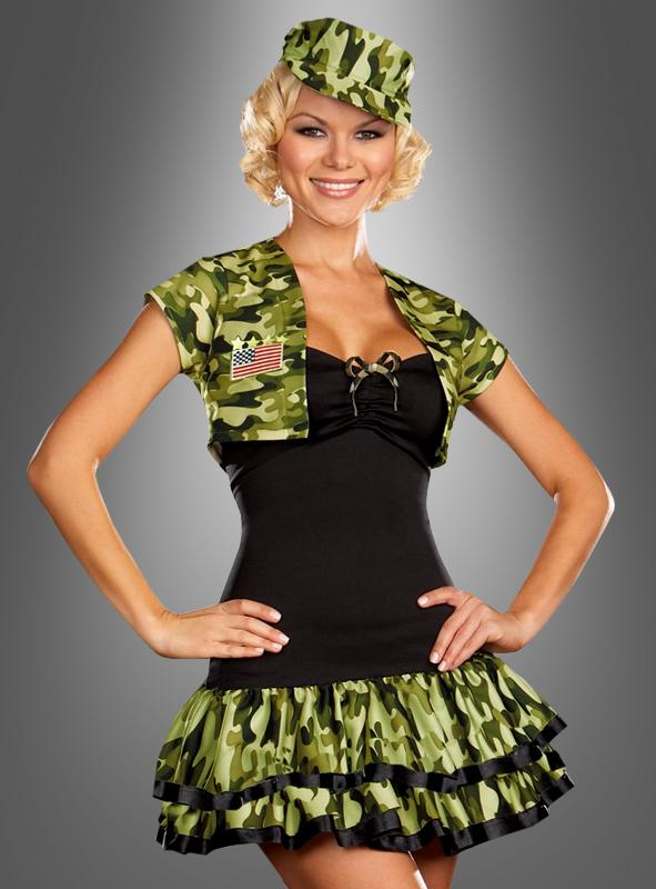 Sexy Soldier Girl Costume