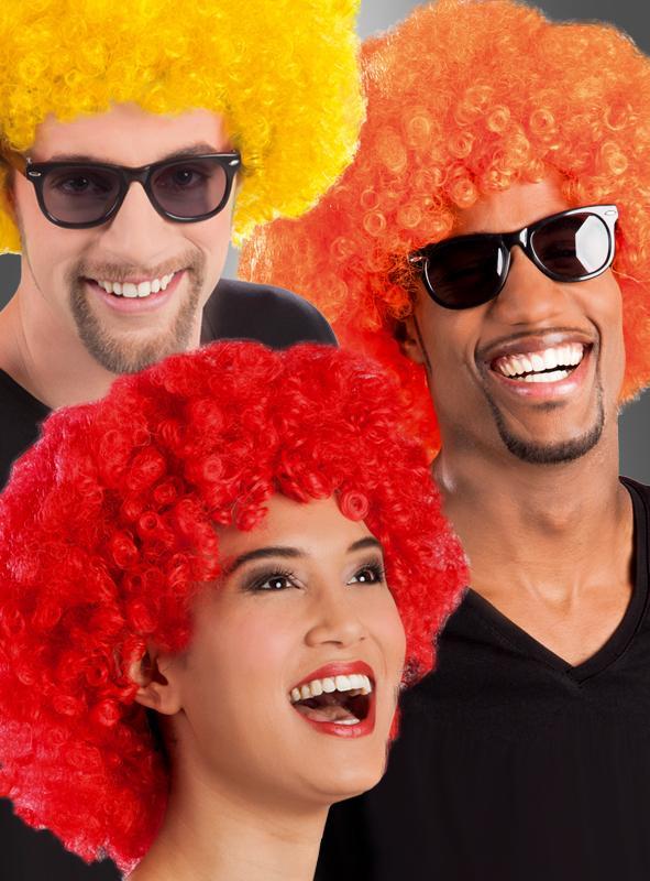 Afro Perücken in verschiedenen Farben
