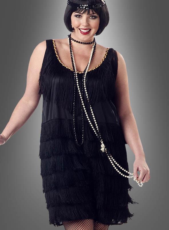 XXL Charleston Kleid schwarz