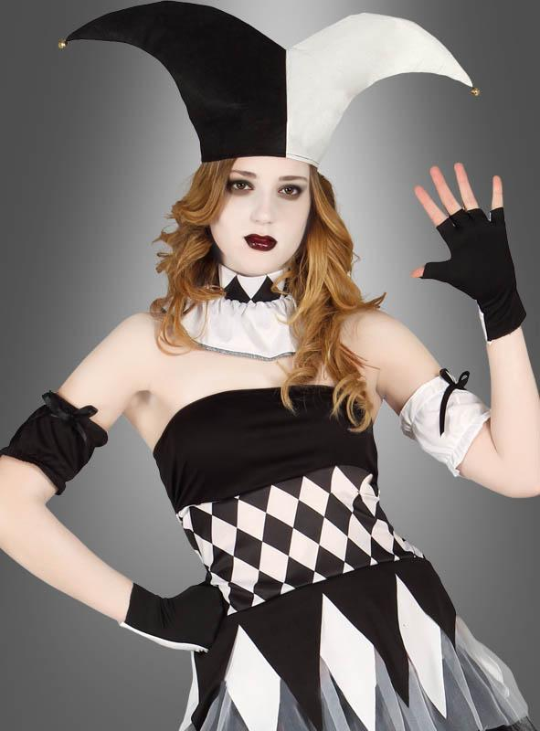 Clowndame Harlekin schwarz weiß
