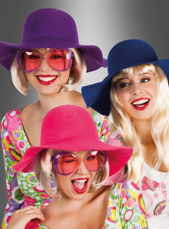 Hippie Schlapphut in vielen Farben