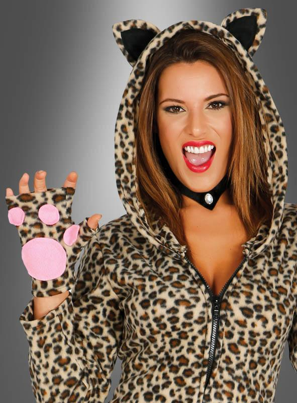 Leopardenkleid für Damen mit Kapuze