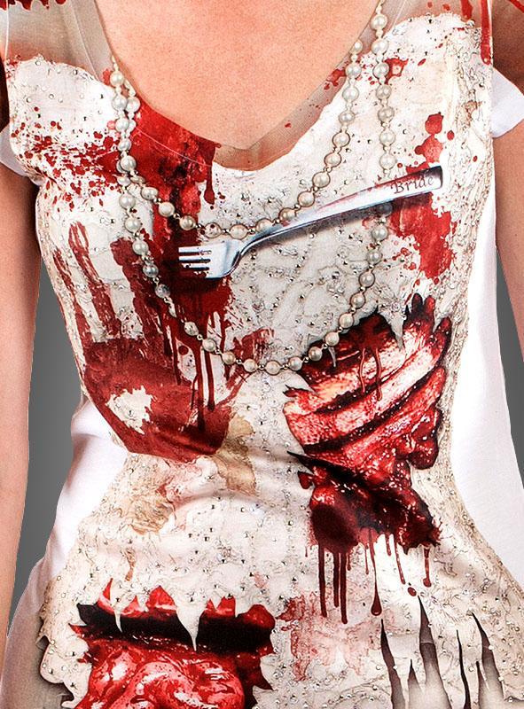 Blutiges Longshirt mit Strass