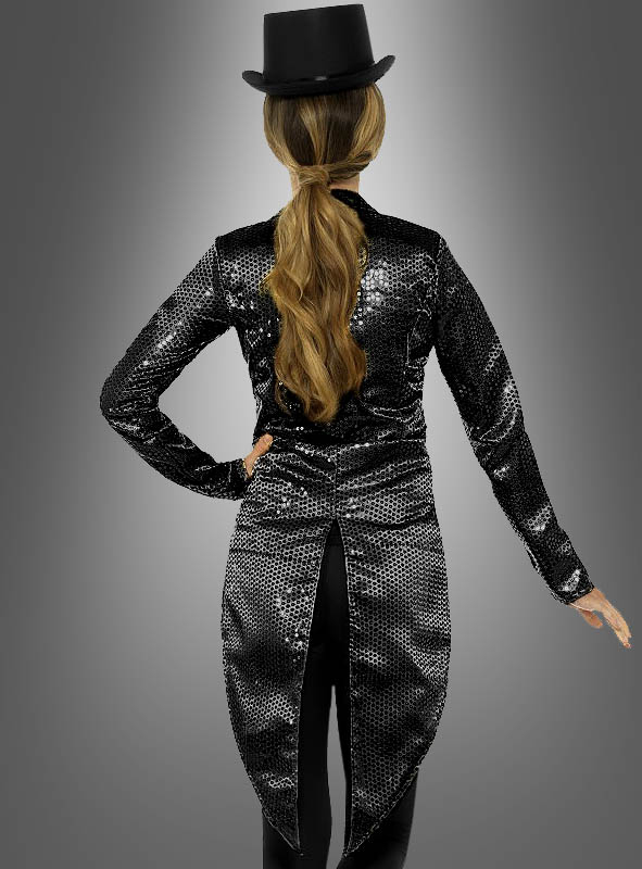 Sequin Tailcoat Women black