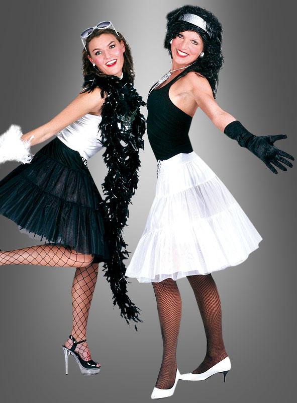 Knielanger Petticoat weiß oder schwarz