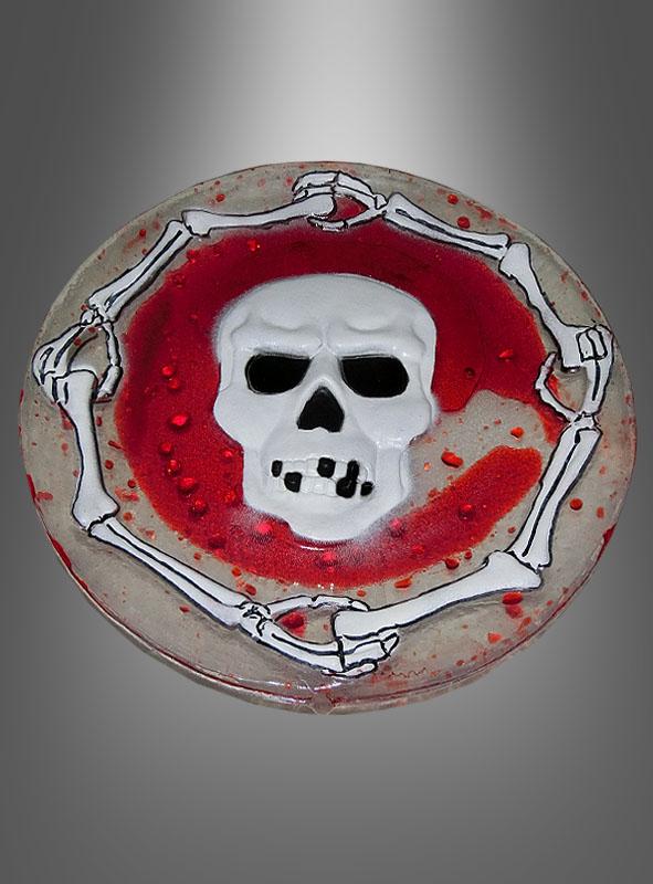 Blutiger Teller Halloween Tischdeko