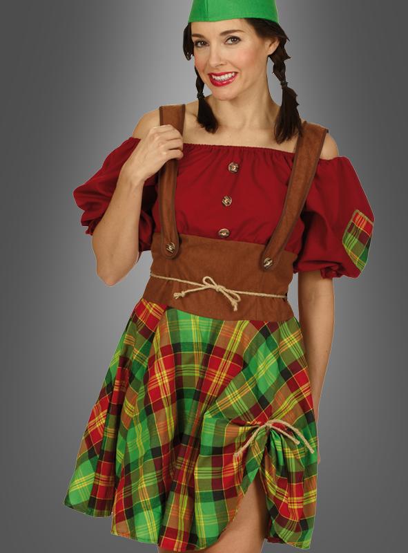 Zwerg Kostum Damen Gartenzwerg Wichtel Karneval