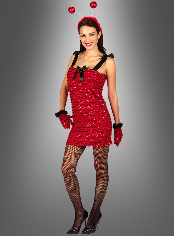 Rotes Stretchkleid mit Pailletten