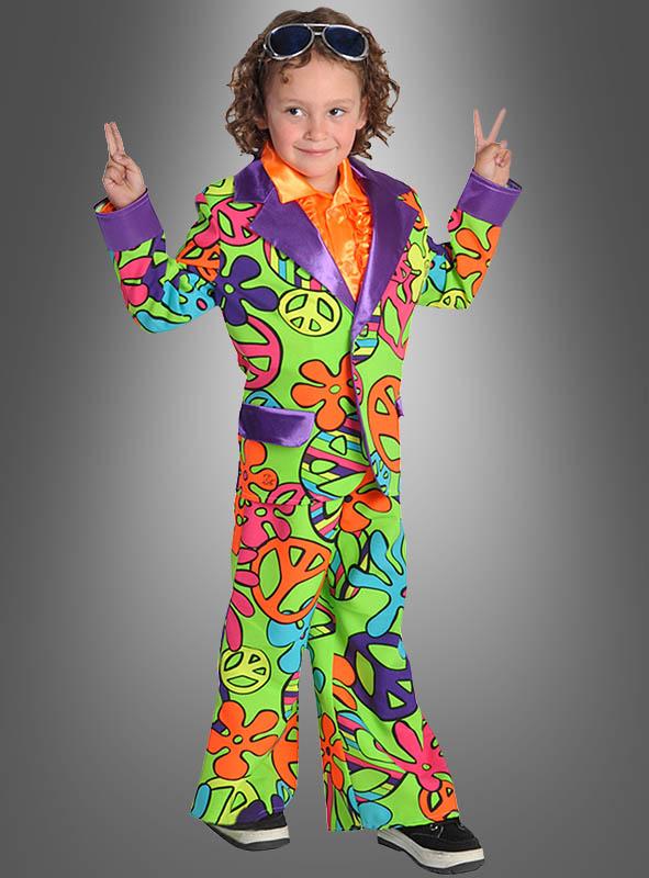 70s Hippie Neon Suit for Children