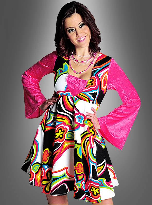 best website e19f5 81bf1 Kleid 70er Mode Neon Psychodelic XXL