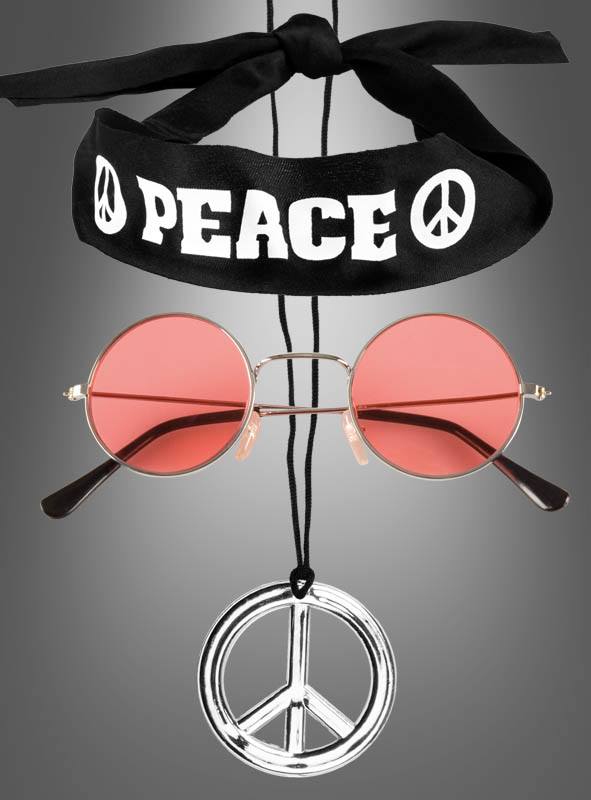 Hippie Peace Set für Kinder und Erwachsene