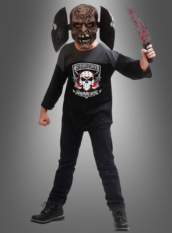 Hockey Psychokiller Doppelmaske und Machete