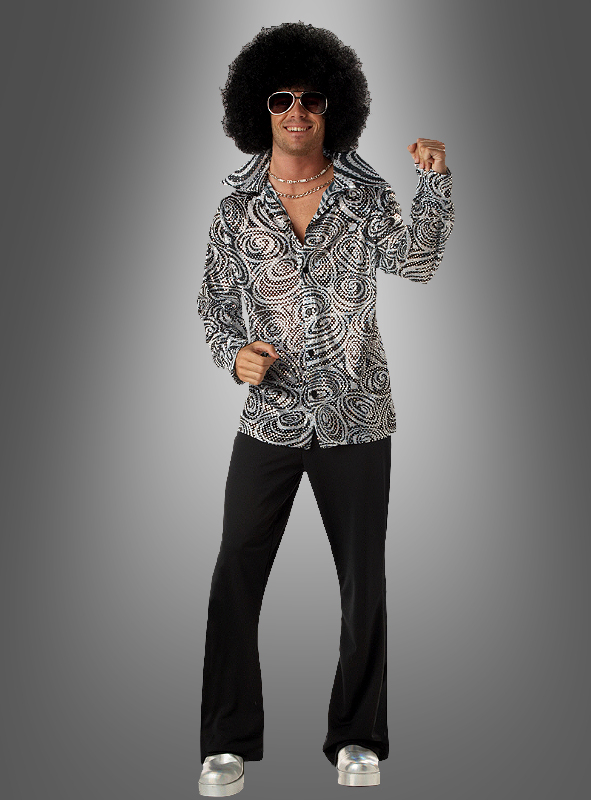 Groovy Glitter Disco Shirt with wig