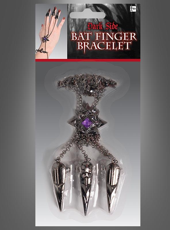 Gothic Skull Finger Bracelet
