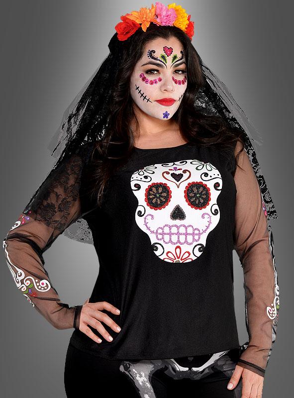 Totenkopf Shirt Tag der Toten