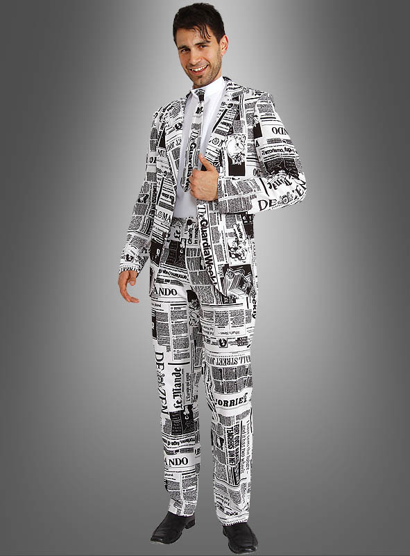 Newspaper Suit