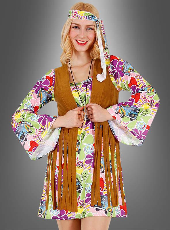Hippie Flower Dress with Fringe Vest