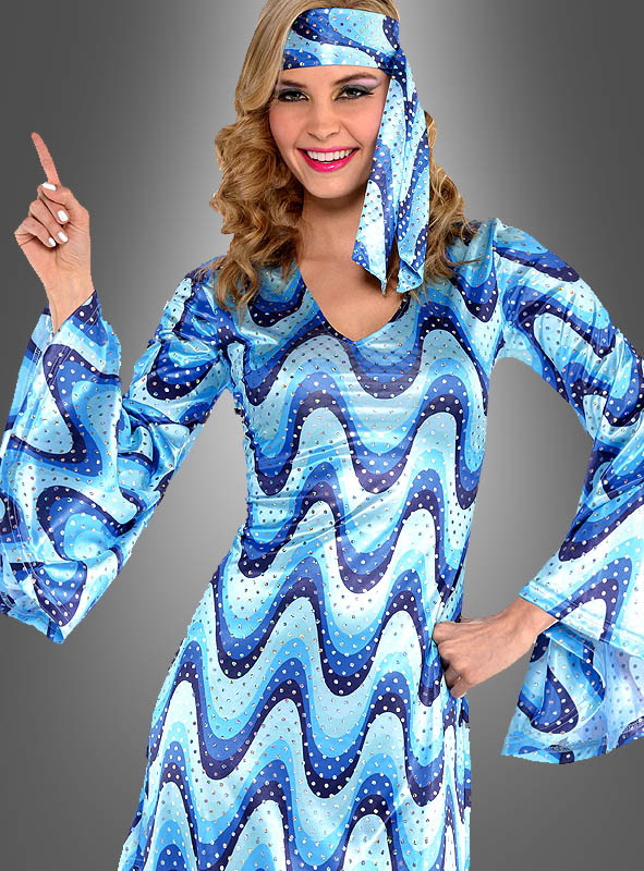 Disco Lady Dress Bluebird