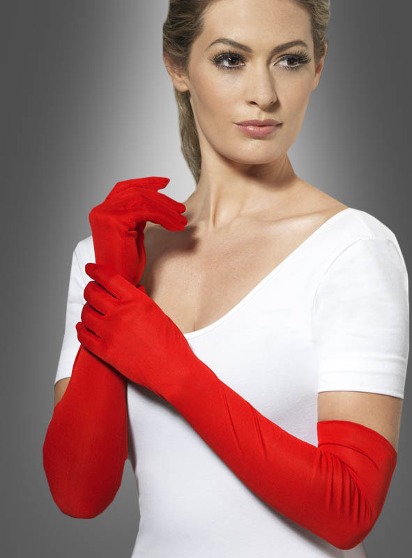 Long Gloves black, white or red
