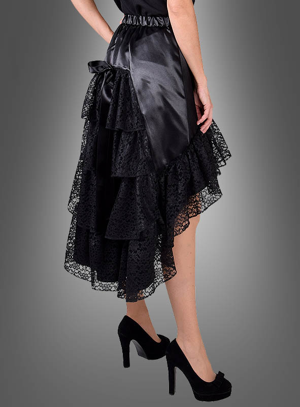 Skirt with Lace black