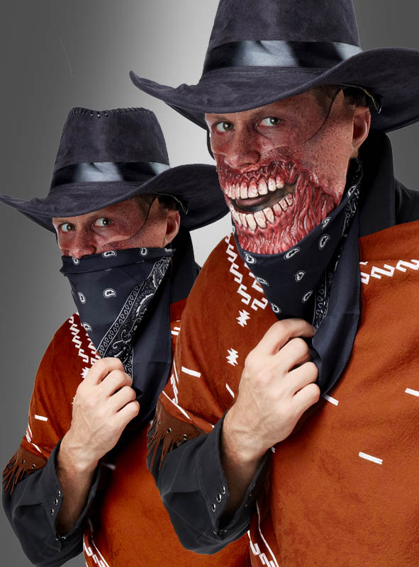 Gruesome Outlaw with Zombie Half Mask