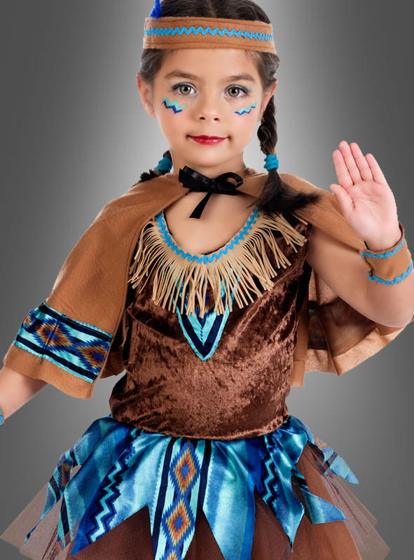 Native Indian Girl Costume with Cape