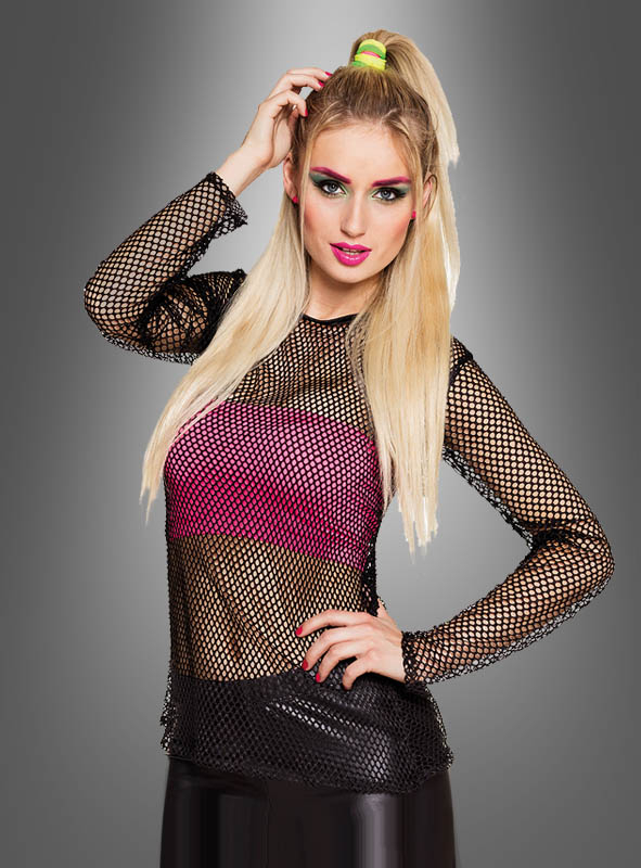 80s Fishnet Shirt black or white