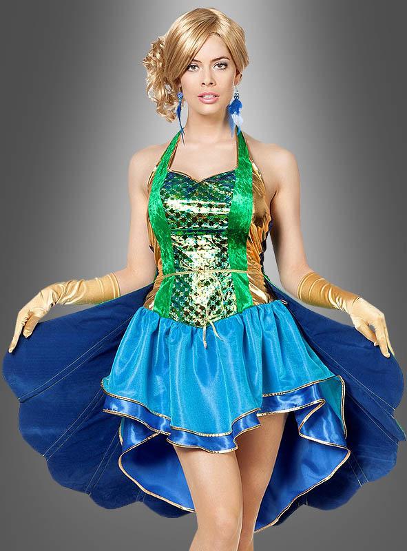288f5ec18473a Pfau Kostüm mit Pfauenschwanz