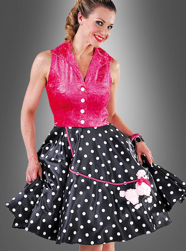50s Polkadot Dress with Poodle