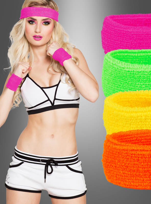 80s Sweat Band Kit in bright colors