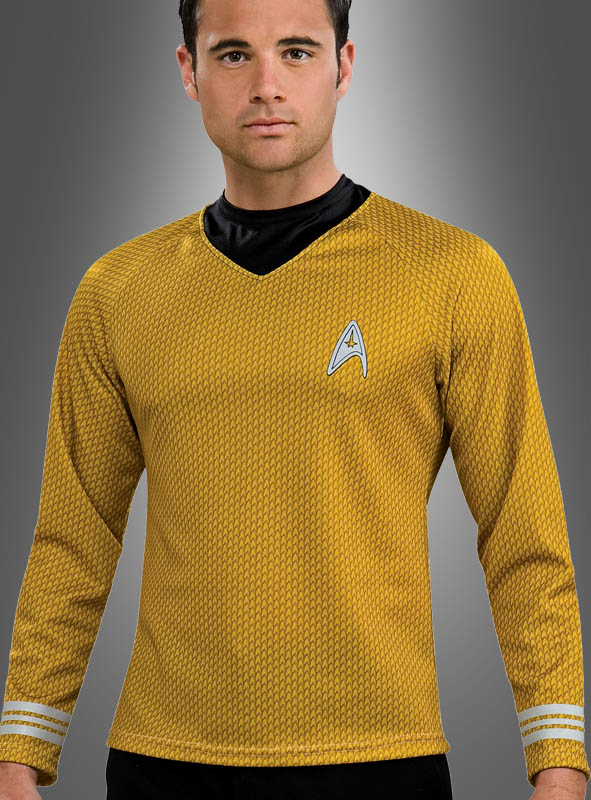 Star Trek Uniform Captain Kirk Shirt gold