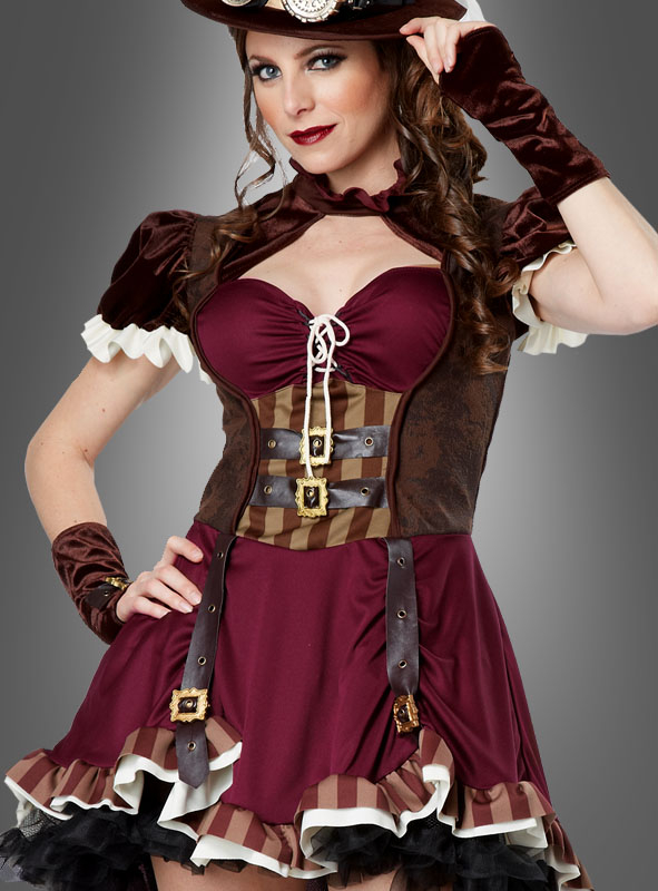 Steampunk Lady Kostüm mit Hut