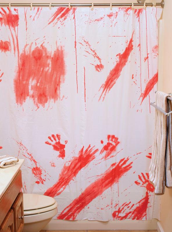 Blutiger Duschvorhang Halloweendeko