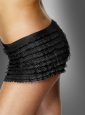 Panties black ruffle lace
