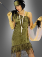 Green Charleston Dress with headband