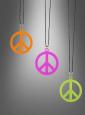 Peace Zeichen Kette Medallion