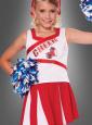 Cheerleader Kostüm Kinder inkl. Pompons