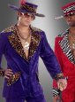 Adult velvet 70s Pimp costume purple