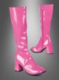 Lackstiefel pink für Damen