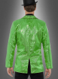 Jacket green with sequins