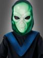 Alien Kostüm für Kinder mit Leuchtmaske